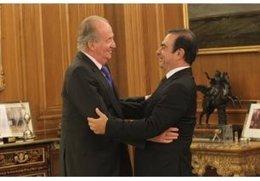 El Rey Don Juan Carlos y Carlos Ghosn