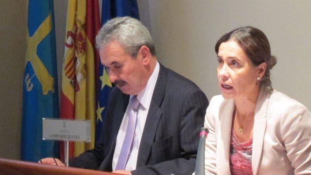 Torres y Carcedo, durante la comparecencia.