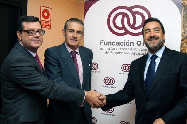 Firma del Convenio Fundación Once, Servimedia y Europa Press