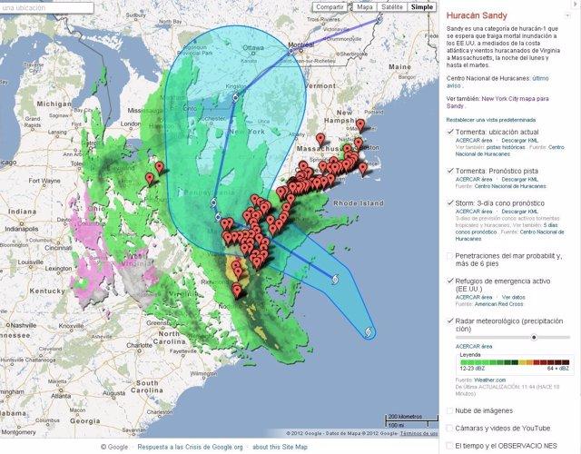 Recurso Google Huracán Sandy