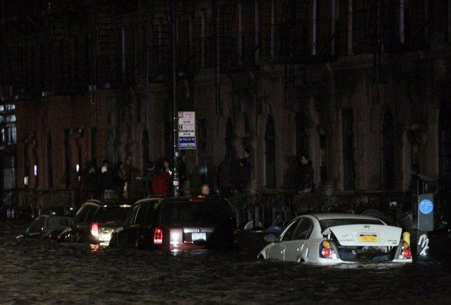 Inundación en Nueva York tras el paso del huracán Sandy