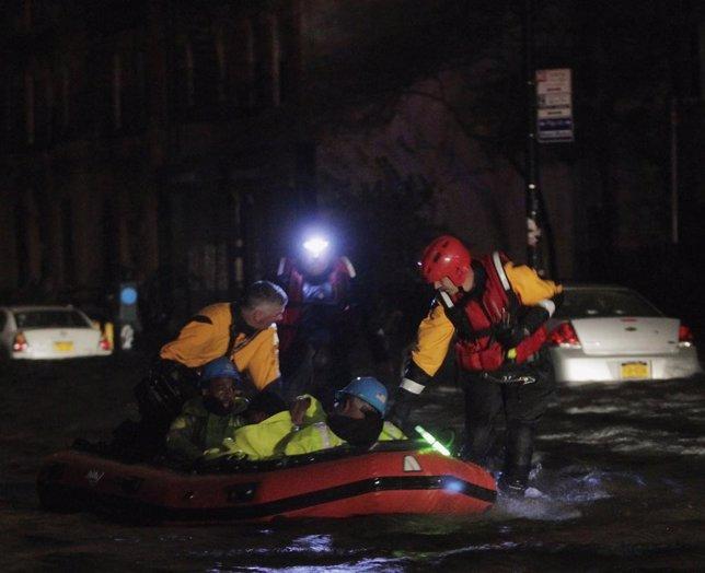 Inundaciones en Nueva York tras el paso de Sandy