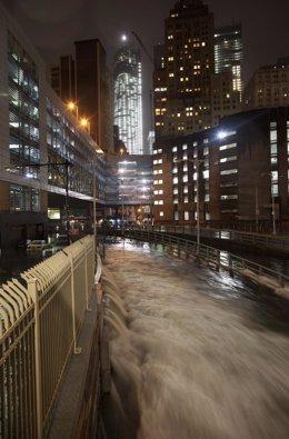 Inundaciones en Nueva York tras el paso del huracán Sandy