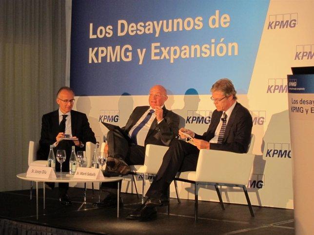El pte. De Banco Sabadell J.Oliu en los Desayunos de KPMG y Expansión