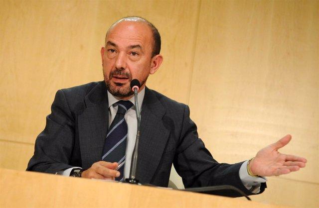 Miguel Ángel Villanueva, en la rueda de prensa de la Junta de Gobierno de Madrid