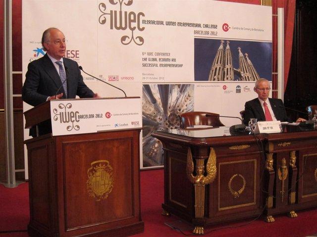 Joan Maria Nin (La Caixa y CaixaBank) y Miquel Valls (Cámara de Comercio)