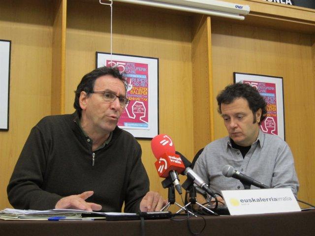 Mikel Bujanda y Juan Kruz Lakasta.