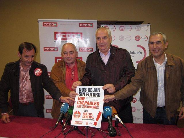 Pastrana y Carbonero en el centro antes de reunirse con sindicalistas en Córdoba