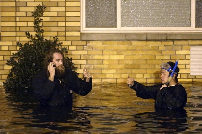 Huracán Sandy a su paso por Nueva York