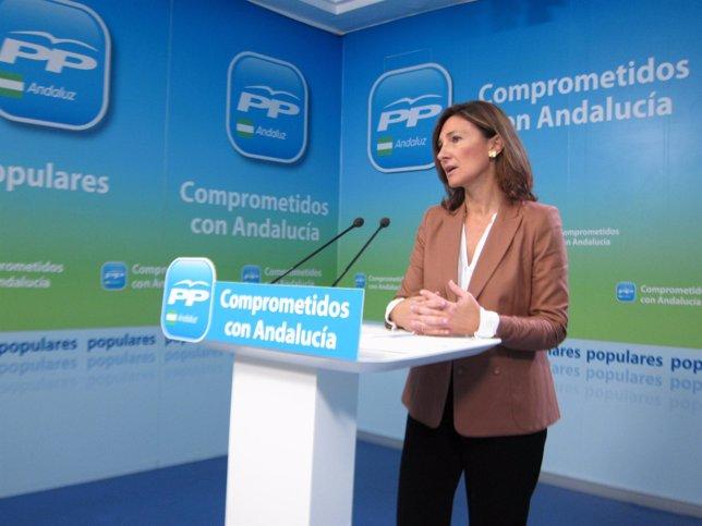 Alicia Martínez (PP-A), hoy en rueda de prensa