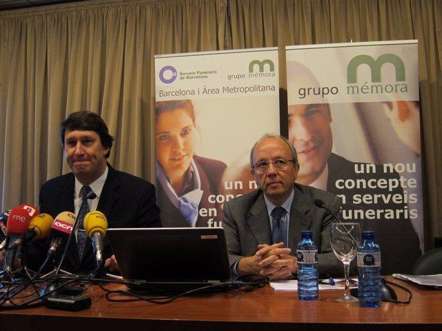Eduard Vidal (dtor. Mémora) Joan Berenguer (dtor. Serveis Funeraris Barcelona)
