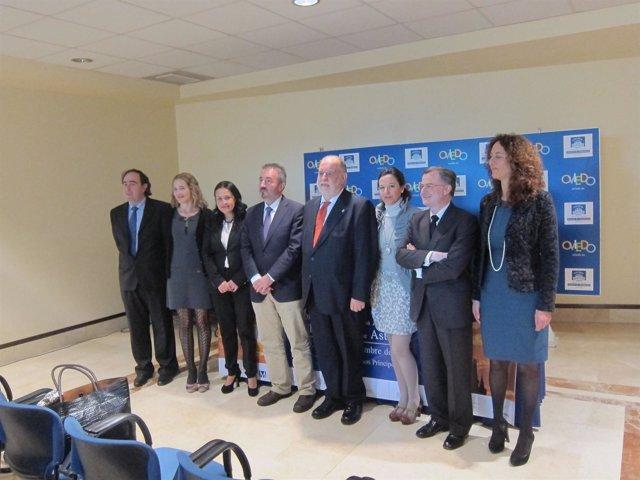 Organizadores del Congreso y presidentes de  los colegios de Abogados.
