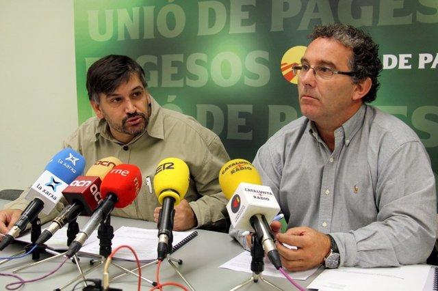 Joan Caball y Xavier Frigola, Unió de Pagesos