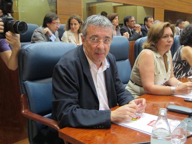 Gregorio Gordo En Su Escaño De La Asamblea