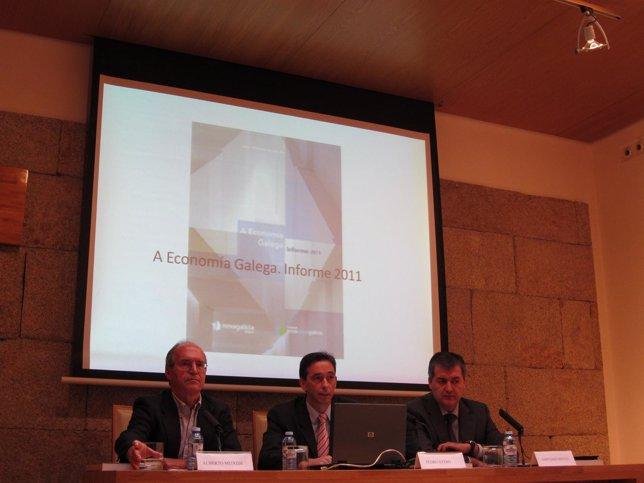 Alberto Meixide, Pedro Otero y Santiago Novoa presentan el informe de NCG