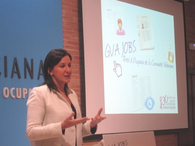 La Consellera De E Mpleo, María José Català, Presenta 'GVA Jobs'