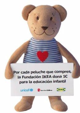Campaña solidaria Peluches para la Educación de IKEA