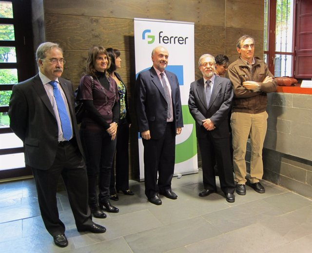 Pastor (izq.), Marcos Sacristán (segundo por la drcha) y Andrés Fdez (centro)