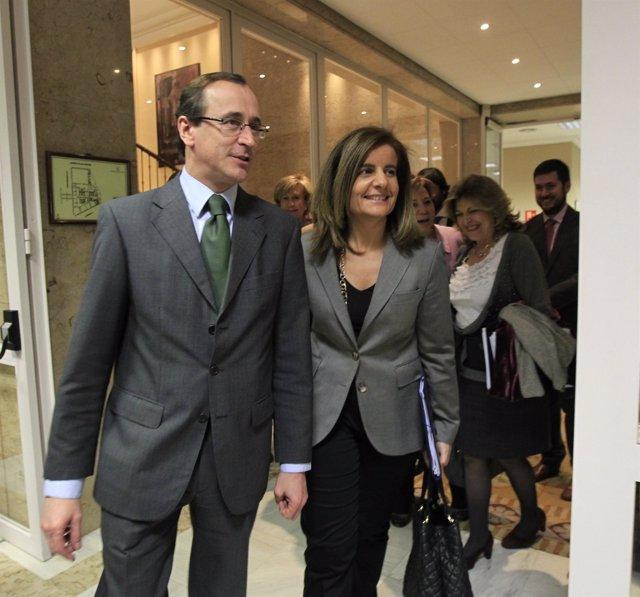 Alfonso Alonso, Con Fátima Báñez