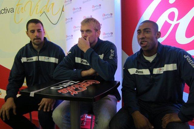 Germán Gabriel, Daniel Clark y Jayson Granger
