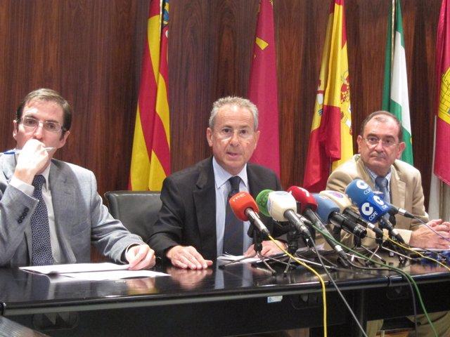 José Carlos González, Miguel Ángel Ródenas y Rafael Belchí