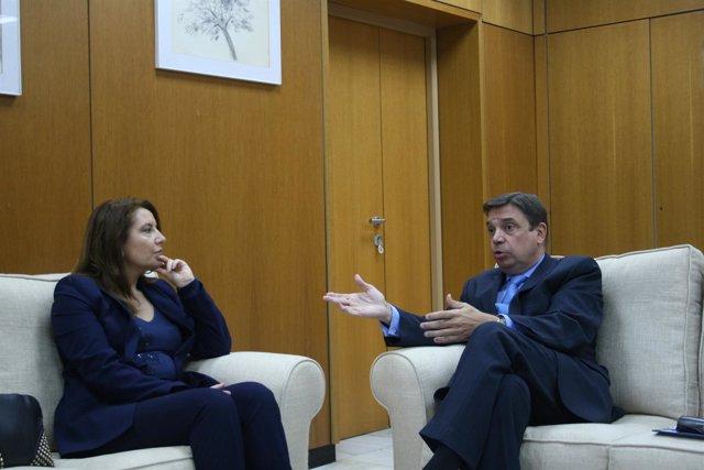 Crespo y Planas en la reunión