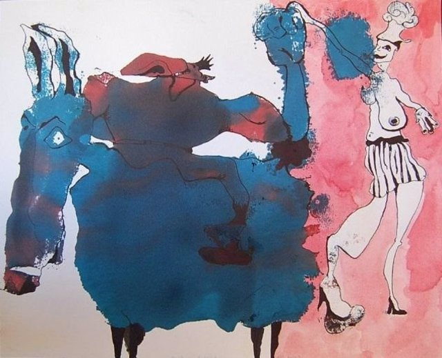 'Hombre Burro Sentado Encima De Un Burro', De Neila Pascual