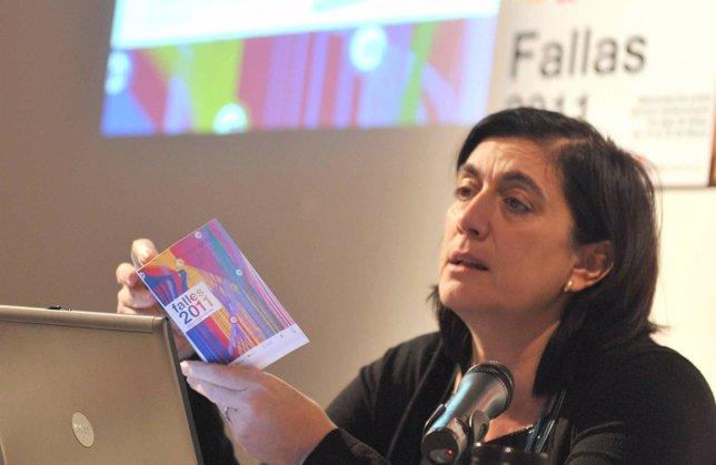 Marisa Gracia en la presentación de los servicios especiales de Fallas