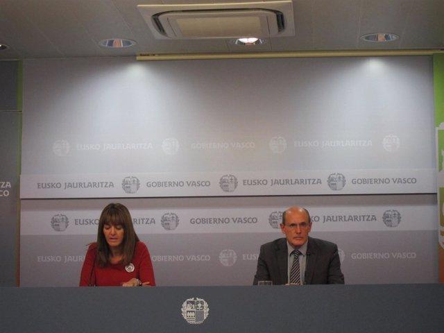 RUEDA DE PRENSA CONSEJO GOBIERNO VASCO IDOAI MENDIA Y CONSEJERO RAFAEL BENGOA