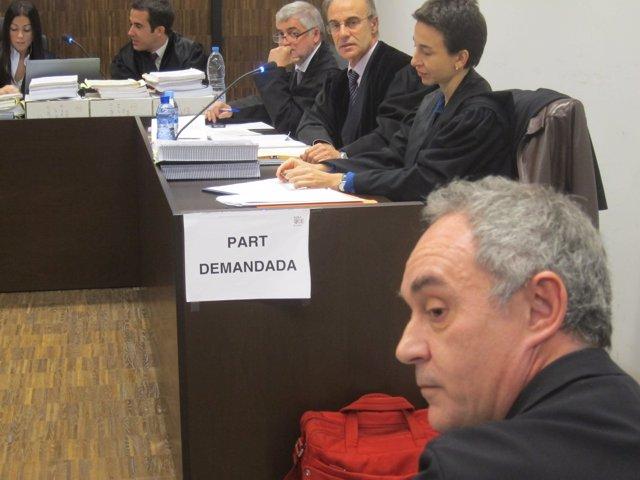 Ferran Adrià en el juicio