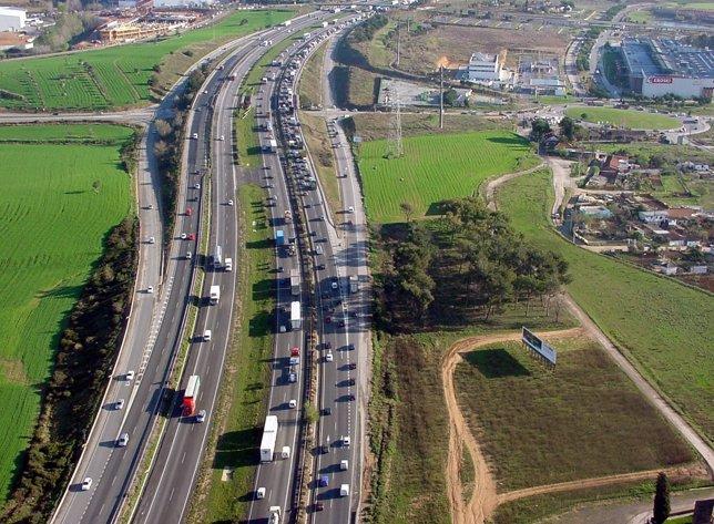 Carretera en Catalunya, colas