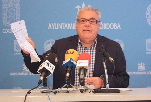 Emilio Aumente en rueda de prensa
