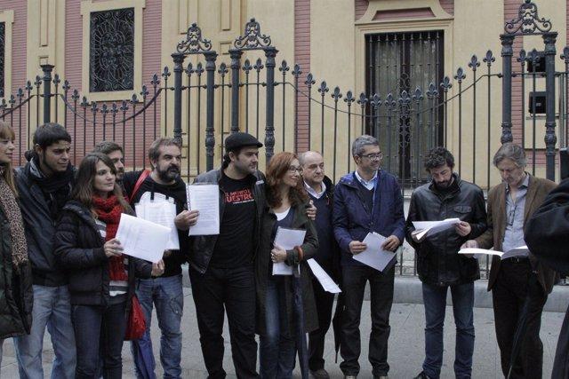 Sectores de la cultura andaluza reclaman a Canal Sur el pago del 6%