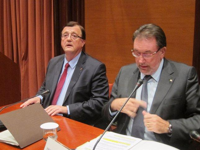 Los consellers Francesc Xavier Mena y Josep Lluís Cleries