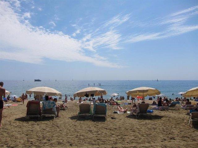 Playa en Catalunya