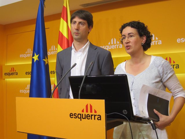 Jordi Solé Y Marta Rovira (ERC)