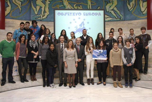 Entrega del premio 'Objetivo Europa'
