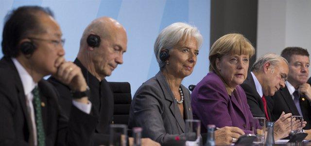 Lagarde, Merkel, Gurría y otros líderes reunidos en Berlín