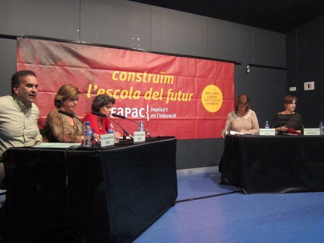 C.Martínez (ERC) D.Rius (PSC) consellera I.Rigau D.Camats (ICV) M.Niubó (SI)
