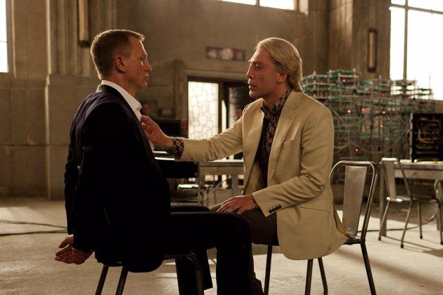 Daniel Craig Javier Bardem en Skyfall