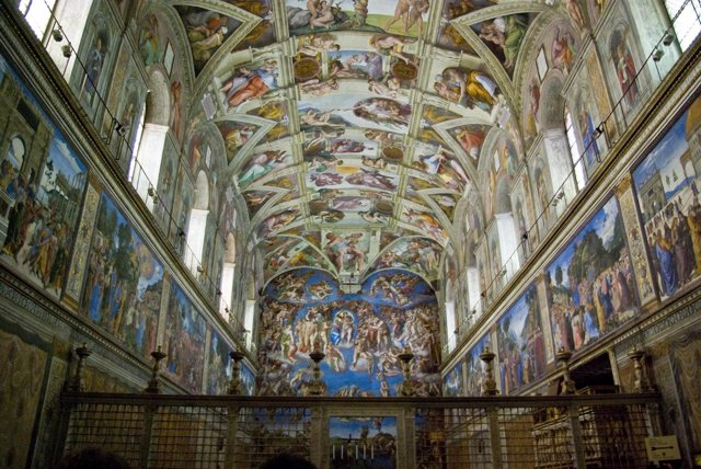 Los frescos de la Capilla Sixtina, obra de Miguel Ángel,