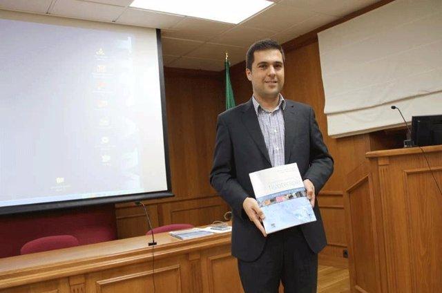 Javier Meroño, durante la presentación