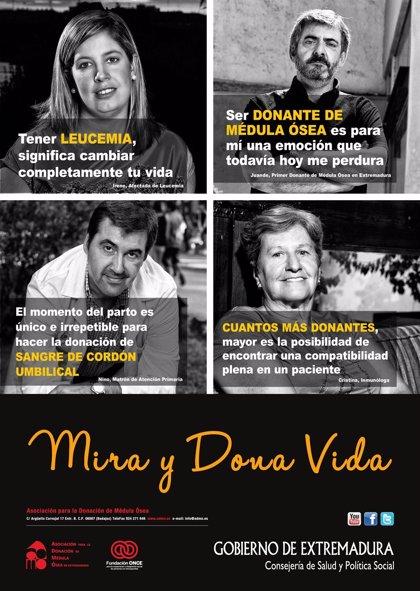 La exposición 'Mira y dona vida' recorrerá varios hospitales para concienciar la donación de médula ósea