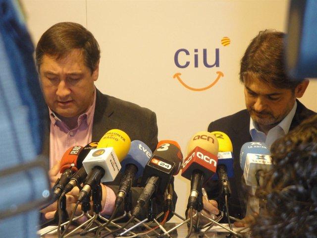 O.Pujol (CDC) Y J.M.Pelegrí (UDC)
