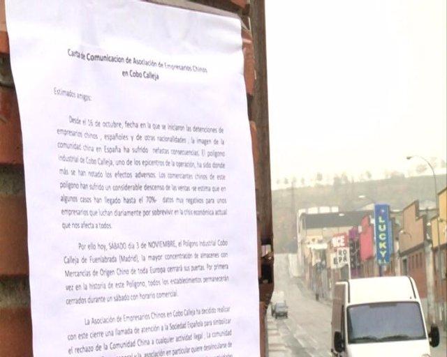 Comercios cerrados en Cobo Calleja