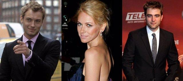 Jude Law, Naomi Watts, Robert Pattinson
