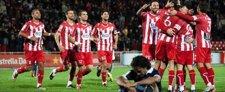 El Girona celebra la victoria