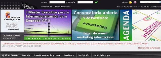 Página web de Excal