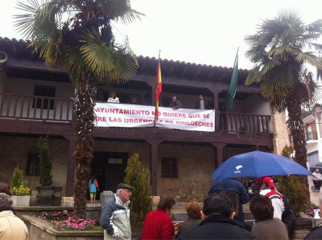 Protesta en Chiloeches