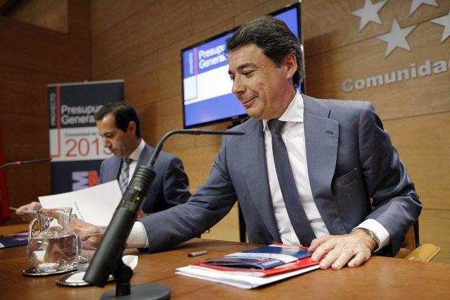 Ignacio González, en la rueda de presupuestos de 2013